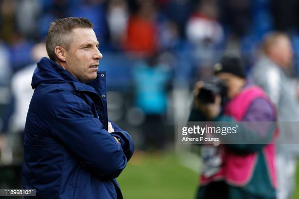 Neil Harris Manager of Cardiff City stands on the touch line during the Sky Bet Championship match between Cardiff City and Preston North End at the...