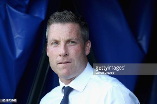 Neil Harris manager of Millwall looks on prior to the Sky Bet Championship match between Millwall and Ipswich Town at The Den on August 15 2017 in...