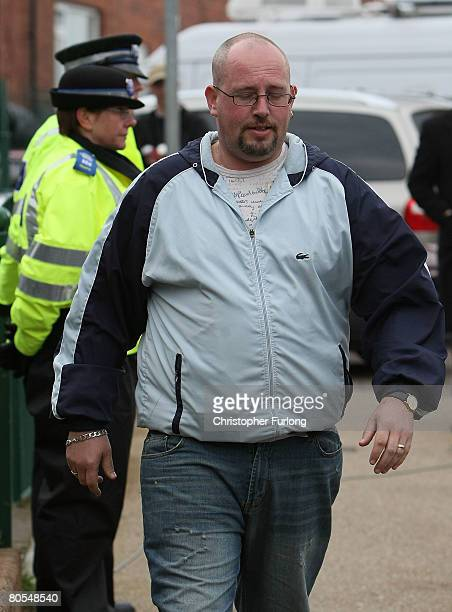 Neil Hyett husband of Amanda Hyett arrives back at their home in Moorside Road on April 7 2008 in Dewsbury near Leeds England Amanda Hyett a...