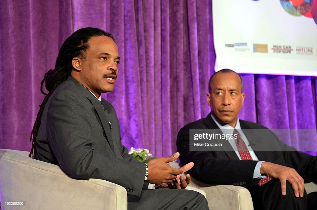 Neil Irvin and Michael Mason attend the A Day To Connect, Inspire And Heal Summit on February 21, 2013 in New York City.