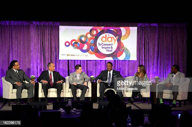 Neil Irvin Michael Mason Brennan Poole James Brown Wynser Poole and William Gay attend the A Day To Connect Inspire And Heal Summit on February 21...