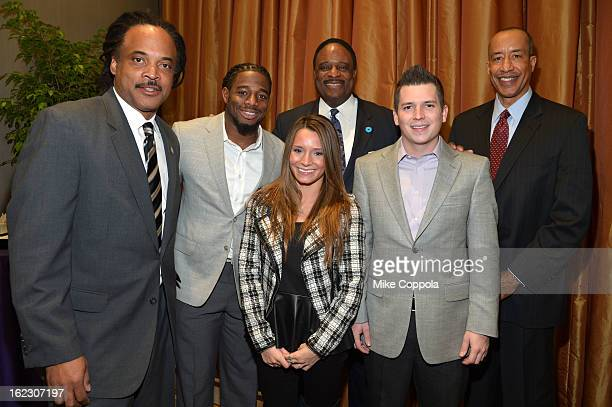 Neil Irvin William Gay Wynser Poole James Brown Brennan Poole and Michael Mason attend the A Day To Connect Inspire And Heal Summit on February 21...