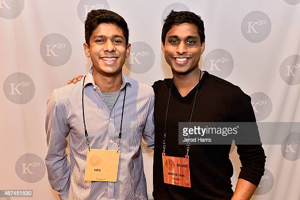 Neil Jain and Ankur Jain attend the 2014 Kairos Global Summit at RitzCarlton Laguna Nigel on October 18 2014 in Dana Point California