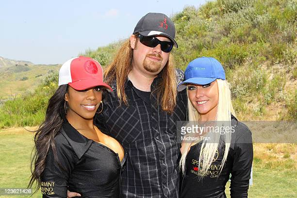 Neil Jason Wharton with the Spearmint Rhino girls attend Vince Neil's 15th Annual Skylar Neil Foundation golf tournament held at Lost Canyons Golf...