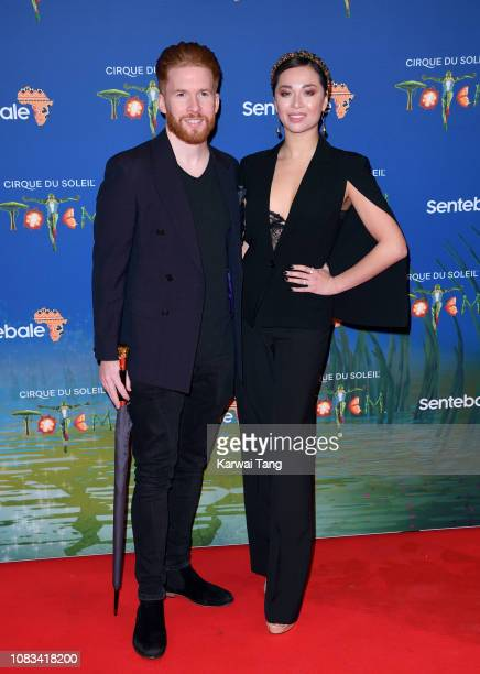 Neil Jones and Katya Jones attend the Cirque du Soleil Premiere Of TOTEM at the Royal Albert Hall on January 16 2019 in London England