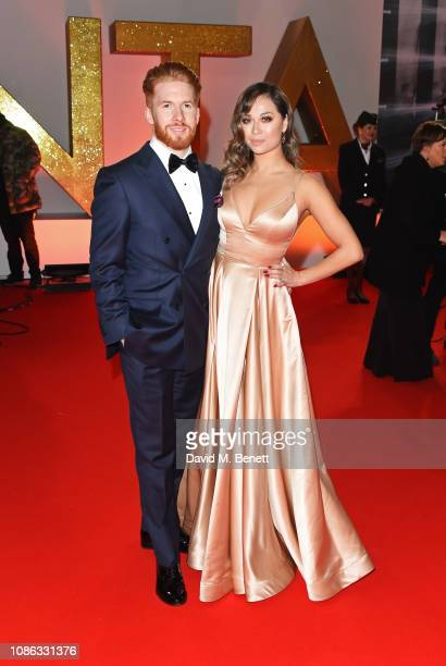 Neil Jones and Katya Jones attend the National Television Awards held at The O2 Arena on January 22 2019 in London England