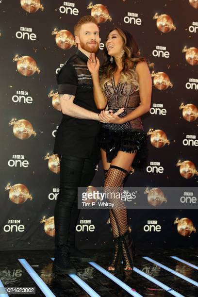 Neil Jones and Katya Jones attend the red carpet launch for 'Strictly Come Dancing 2018' at Old Broadcasting House on August 27 2018 in London England