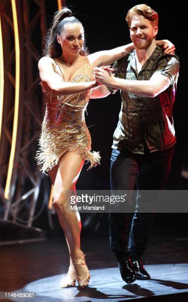 Neil Jones and Katya Jones during the Strictly Come Dancing The Professionals photocall at Elstree Studios on May 02 2019 in Borehamwood England