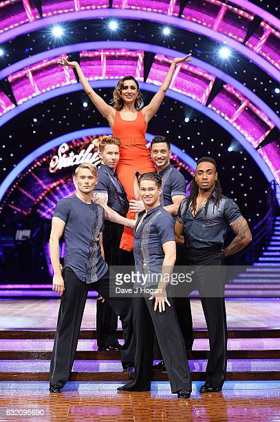 Neil Jones Anita Rani AJ Pritchard and Giovanni Pernice attend the photocall for the 'Strictly Come Dancing' live tour at the Barclaycard Arena on...