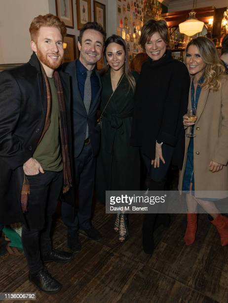 Neil Jones Joseph McFadden Katya Jones Kate Silverton and Gemma Outen attend the press night after party for The House On Cold Hill at the Richmond...