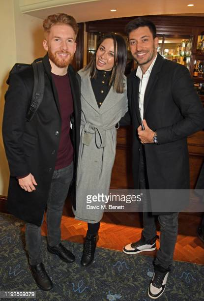 Neil Jones Katya Jones and Giovanni Pernice attend the VIP Gala Night for Curtains A Musical Whodunnit at Wyndham's Theatre on January 8 2020 in...