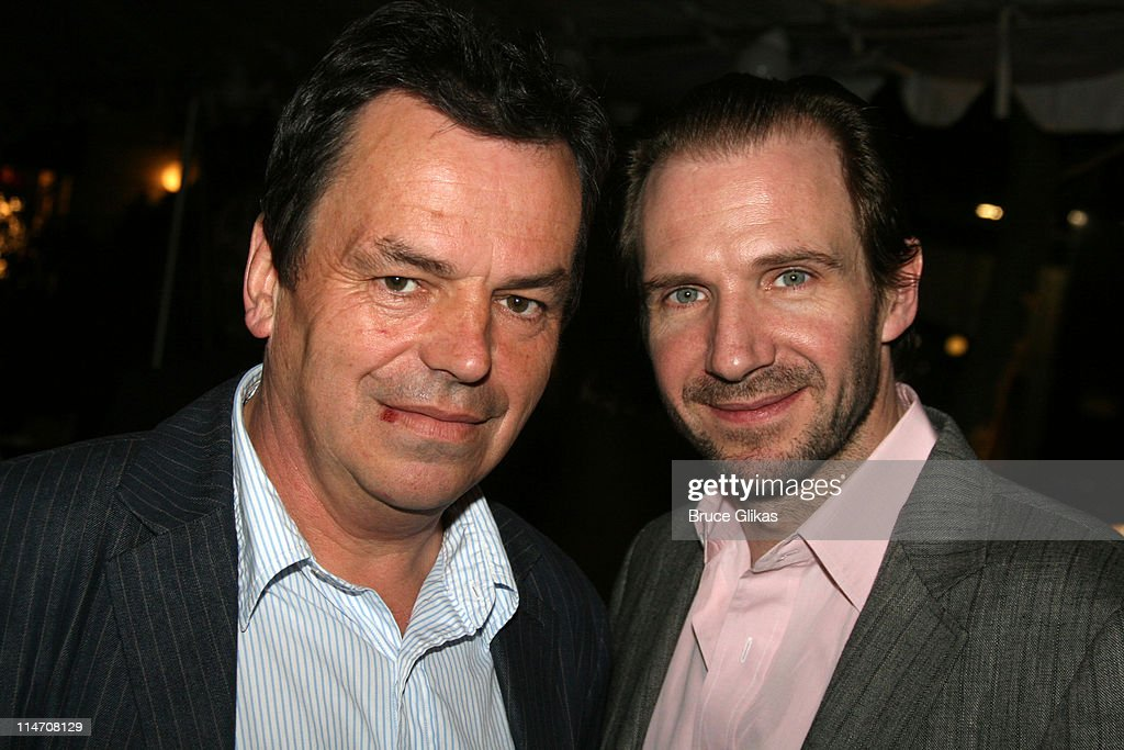 Neil Jordan and Ralph Fiennes during Opening Night for Brian Friel's 'Faith Healer' on Broadway - May 4, 2006 at The Booth Theater in New York City, New York, United States.