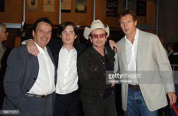 Neil Jordan director Cillian Murphy Bono and Liam Neeson