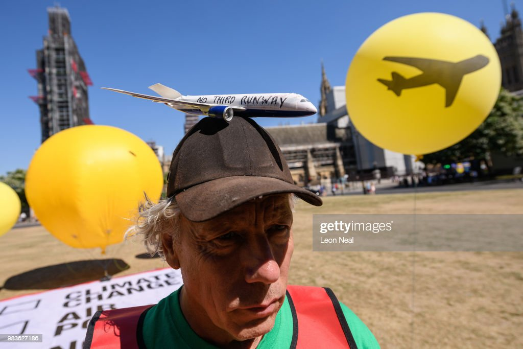 Demonstrators Protest Against Proposed Third Runway At Heathrow Airport