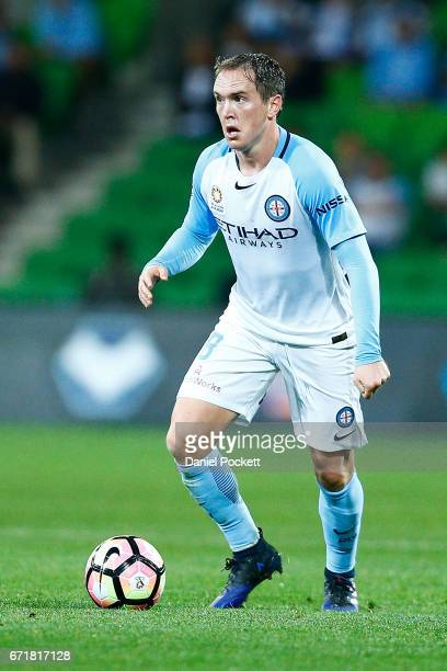 Neil Kilkenny of Melbourne City looks inside during the ALeague Elimination Final match between Melbourne City FC and the Perth Glory at AAMI Park on...