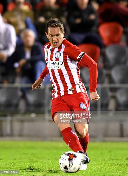Neil Kilkenny of Melbourne City passes the ball during the FFA Cup round of 32 match between the Peninsula Power and Melbourne City FC at Dolphin...