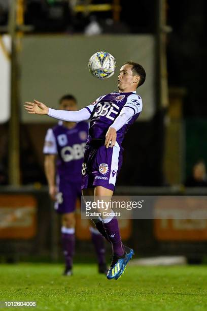 Neil Kilkenny of the Glory controls the ball during the FFA Cup round of 32 match between Perth Glory and Melbourne Victory at Dorrien Gardens on...