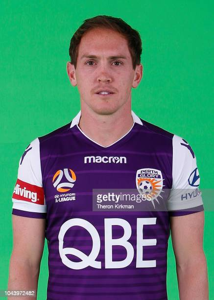 Neil Kilkenny poses during the 2018/19 Perth Glory ALeague season headshots session at Glory HQ on September 21 2018 in Perth Australia