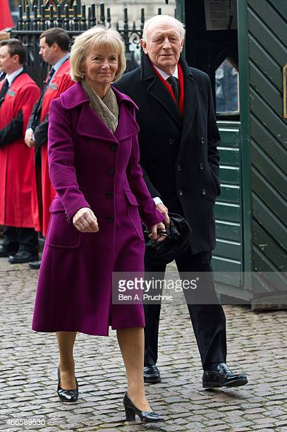 Neil Kinnock and Glenys Kinnock attend a Memorial Service for Sir Richard Attenborough at Westminster Abbey on March 17 2015 in London England