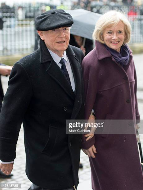 Neil Kinnock and Glenys Kinnock attend National Service of Thanksgiving to celebrate the life of Nelson Mandela at Westminster Abbey on March 3 2014...