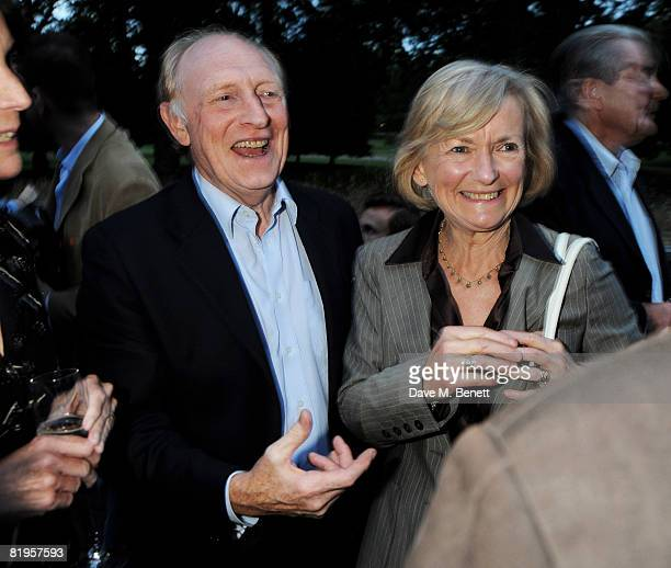 Neil Kinnock and Glenys Kinnock attend the afterparty following the press night of 'The Female Of The Species' at Inn the Park on July 16 2008 in...