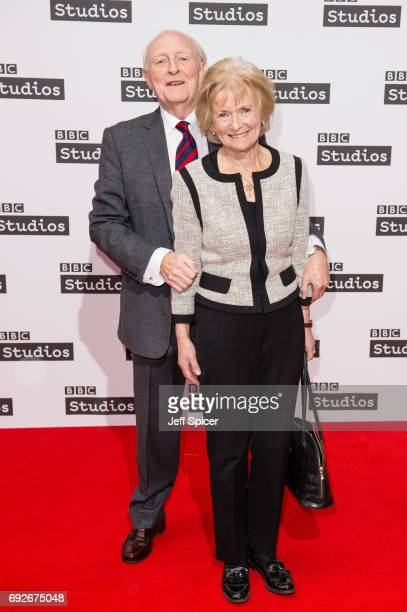 Neil Kinnock and Glenys Kinnock attend the Ronnie Barker comedy lecture with Ben Elton at BBC Broadcasting House on June 5 2017 in London England