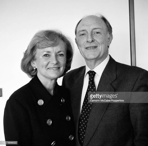 Neil Kinnock, British politician, with his wife Glenys 29th June 2001. A life-long Labour Party member, Kinnock has held important positions in both...