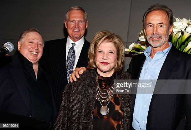 Neil Leifer Jerry West Wallis Annenberg and Walter Iooss attend Sport Iooss and Leifer Exhibit Opening at The Annenberg Space For Photography on...