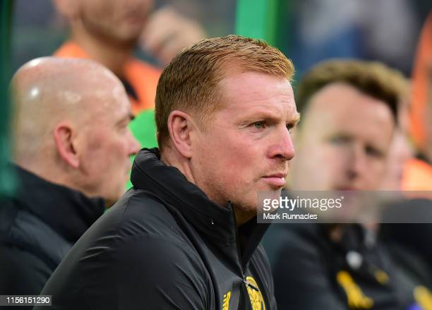 Neil Lennon manager of Celtic during the UEFA Champions League First Qualifying Round 2nd Leg match between Celtic and FC Sarajevo at Celtic Park...