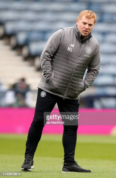 Neil Lennon the manager of Celtic before the Scottish Cup semifinal between Aberdeen and Celtic at Hampden Park on April 14 2019 in Glasgow Scotland