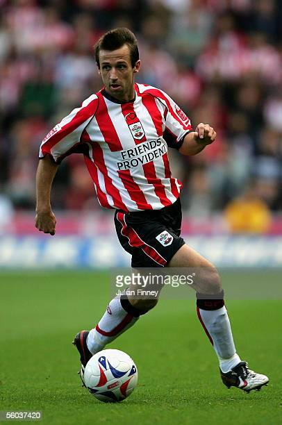 Neil McCann of Southampton in action during the CocaCola Championship match between Southampton and Stoke City at St Mary's Stadium on October 29...