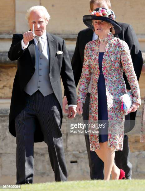 Neil McCorquodale and Lady Sarah McCorquodale attend the wedding of Prince Harry to Ms Meghan Markle at St George's Chapel Windsor Castle on May 19...
