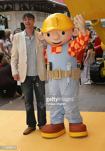 Neil Morrissey and Bob during Bob the Builder Built to be Wild London Premiere at Odeon West End in London Great Britain