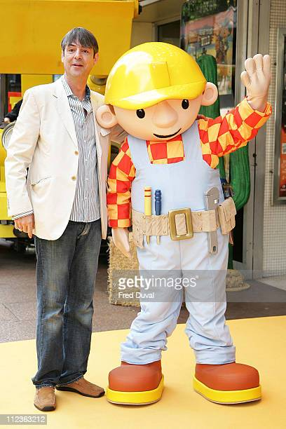 Neil Morrissey and Bob the Builder during Bob The Builder Built To Be Wild London Premiere Outside Arrivals at Odeon West End in London Great Britain