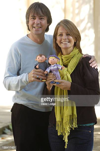 Neil Morrissey and Ulrika Jonsson during Snowed Under The Bobblesberg Winter Games Photocall at ICA in London Great Britain