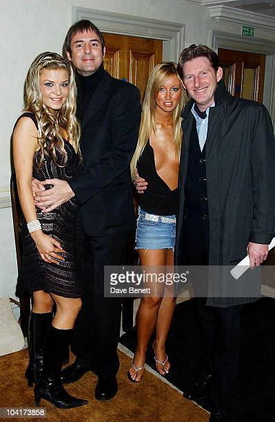 Neil Morrissey With Adrian Dunbar And Poster Girls Girls Lauren Pope And Nikki Theobald 'Triggermen' Premiere At The Charlotte Street Hotel In London