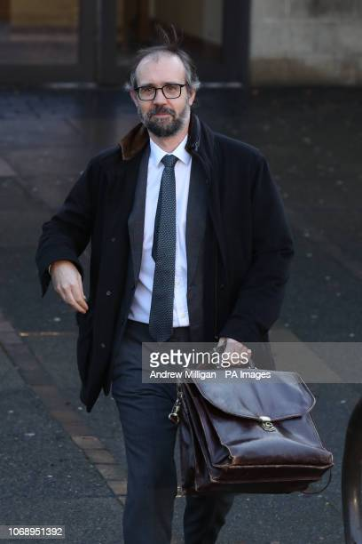 Neil Murray the husband of author JK Rowling leaves Airdrie Sheriff Court where his wife is taking legal action against her former PA Amanda...