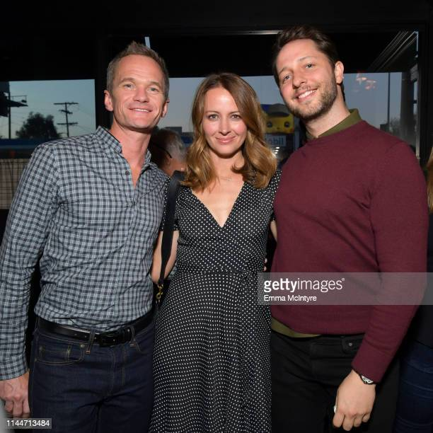 Neil Patrick Harris, Amy Acker, and Derek Blasberg are seen as cookbook author David Burtka celebrates the launch of Life Is a Party with the Capital...