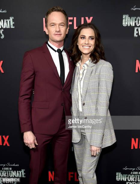 Neil Patrick Harris and Allison Williams attend the 'A Series Of Unfortunate Events' Season 2 Premiere at Metrograph on March 29 2018 in New York City