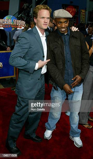 Neil Patrick Harris and Dave Chappelle during 'Undercover Brother' Premiere at Universal Citywalk in Universal City California United States