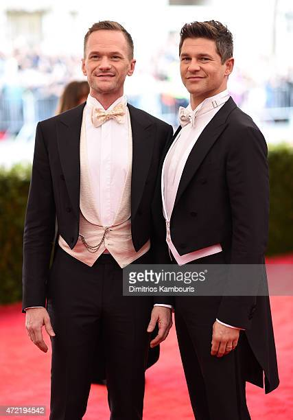 Neil Patrick Harris and David Burtka attend attends the China Through The Looking Glass Costume Institute Benefit Gala at the Metropolitan Museum of...