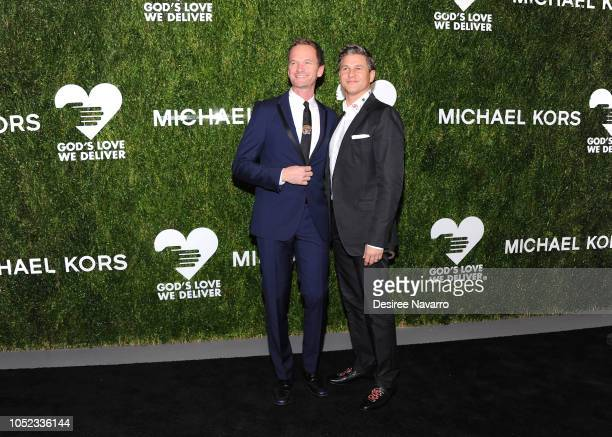 Neil Patrick Harris and David Burtka attend God's Love We Deliver 12th Annual Golden Heart Awards at Spring Studios on October 16 2018 in New York...