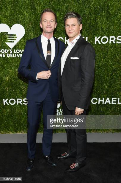 Neil Patrick Harris and David Burtka attend God's Love We Deliver Golden Heart Awards at Spring Studios on October 16 2018 in New York City