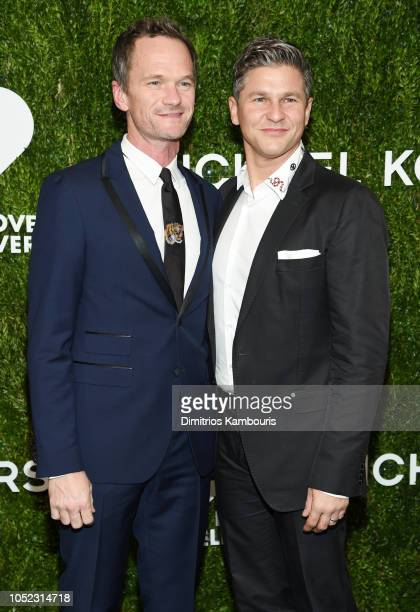 Neil Patrick Harris and David Burtka attend God's Love We Deliver Golden Heart Awards at Spring Studios on October 16 2018 in New York City