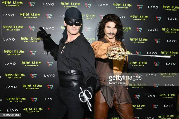 Neil Patrick Harris and David Burtka attend Heidi Klum's 19th Annual Halloween Party presented by Party City and SVEDKA Vodka at LAVO New York on...
