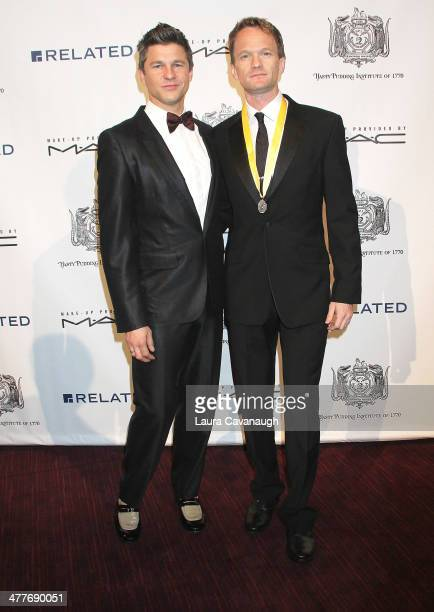 Neil Patrick Harris and David Burtka attend the 2014 Hasty Pudding Institute Of 1770 Order of the Golden Sphinx Award at The Atrium at Lincoln Center...