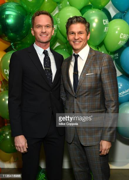 Neil Patrick Harris and David Burtka attend the 2019 Chefs For Kids' Cancer at Metropolitan Pavilion Metro West on March 12, 2019 in New York City.