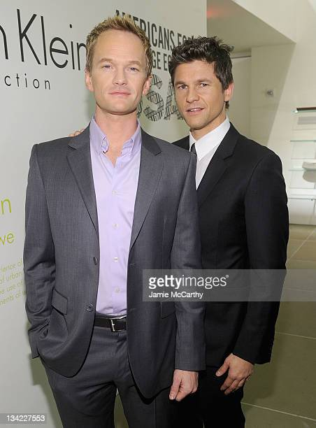 Neil Patrick Harris and David Burtka attend the Americans for Marriage Equality launch at Calvin Klein Collection on November 28, 2011 in New York...