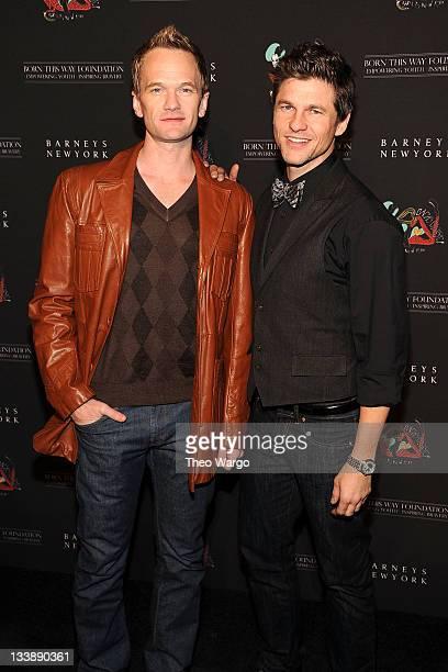 Neil Patrick Harris and David Burtka attend the Barneys New York Celebration Launch of Gaga's Workshop at Barneys New York on November 21 2011 in New...