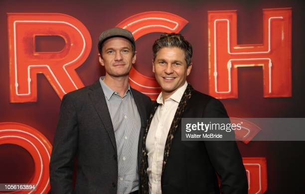 Neil Patrick Harris and David Burtka attend the Broadway Opening Night of Torch Song at the Hayes Theater on November 1 2018 in New York City